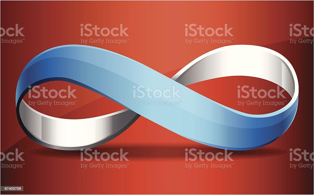 Metallic Möbius Strip vector art illustration