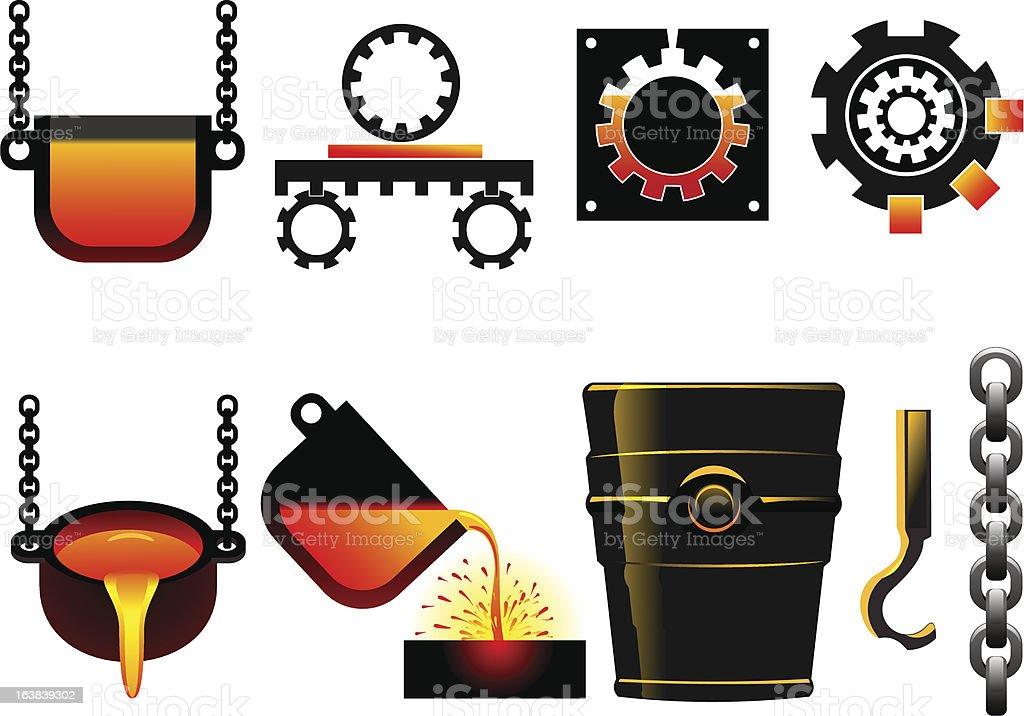 metallurgy royalty-free stock vector art