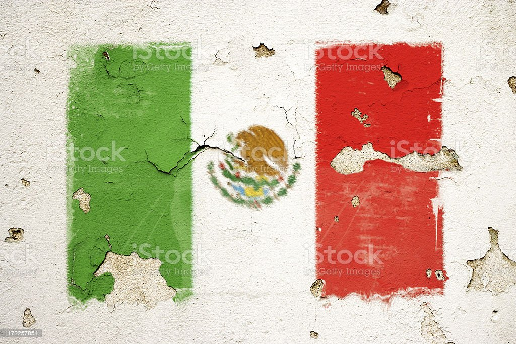 Mexcian flag royalty-free stock vector art