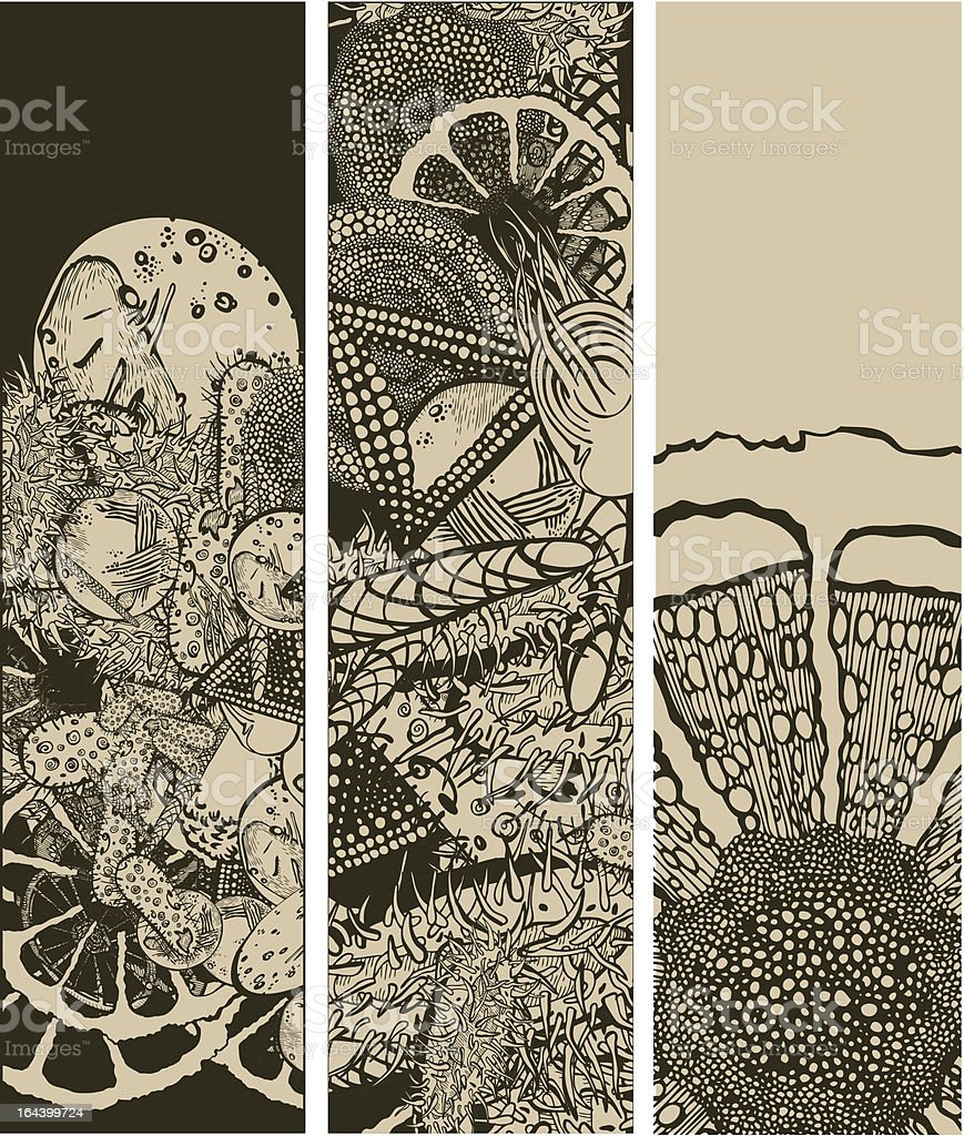 Microbiology banners royalty-free stock vector art