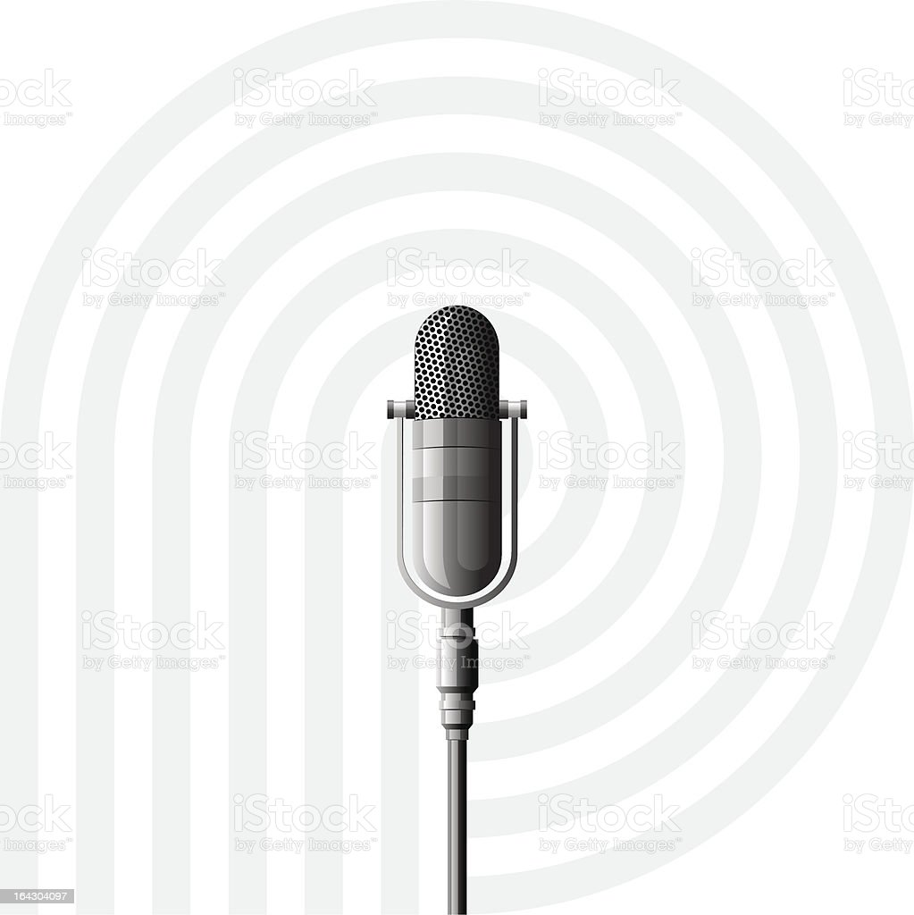 Microphone vector art illustration