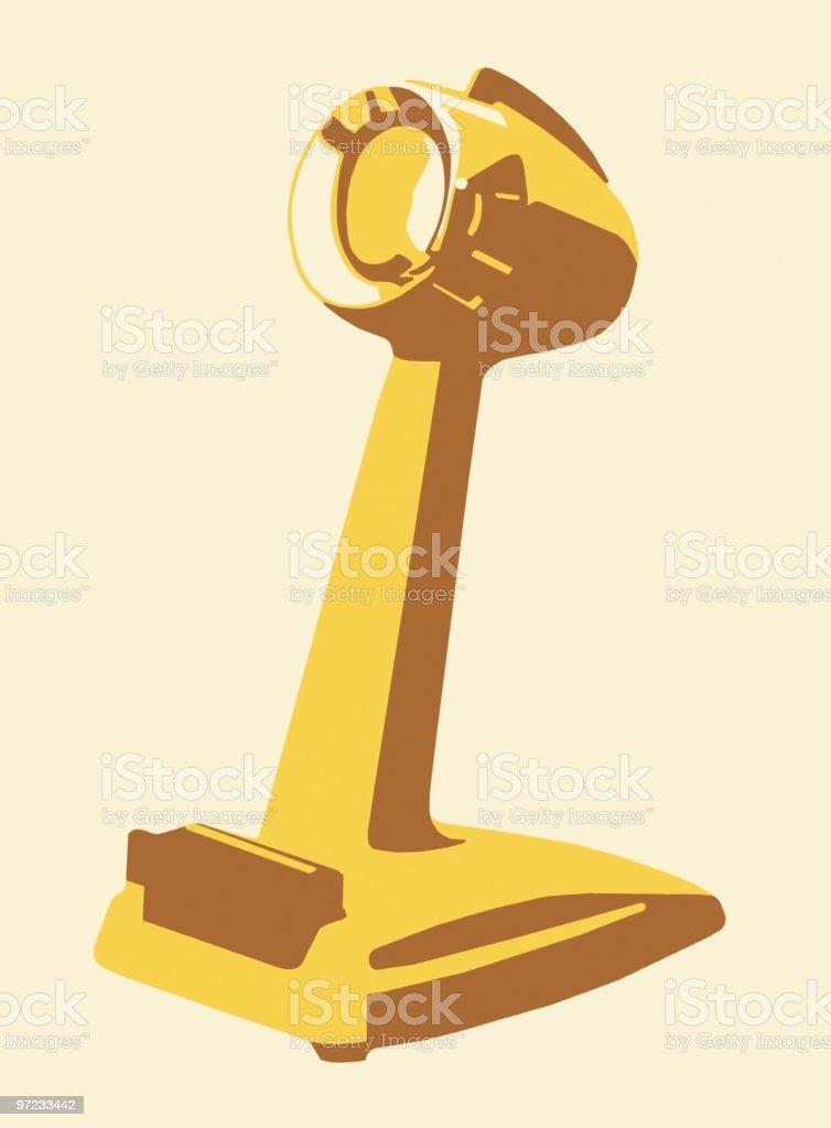 Microscope royalty-free stock vector art