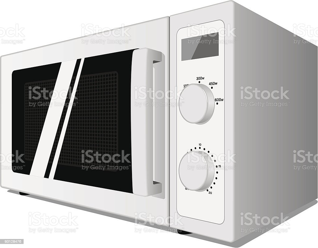 Microwave oven royalty-free stock vector art