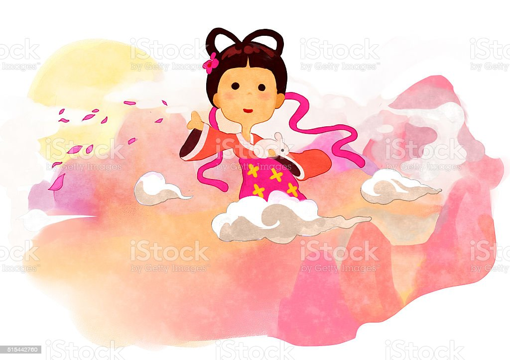 Mid Autumn Festival, Chinese, culture vector art illustration