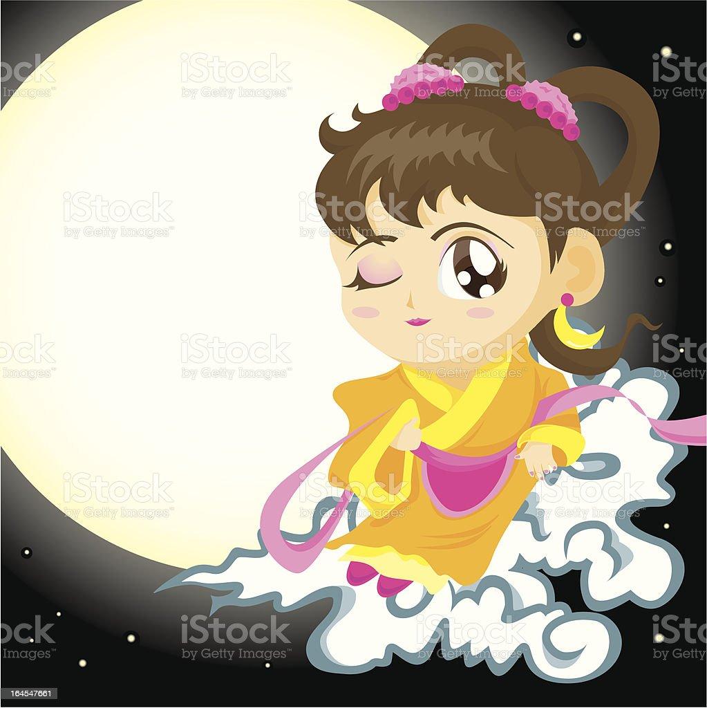 Mid Autumn Festive - Chang Er vector art illustration