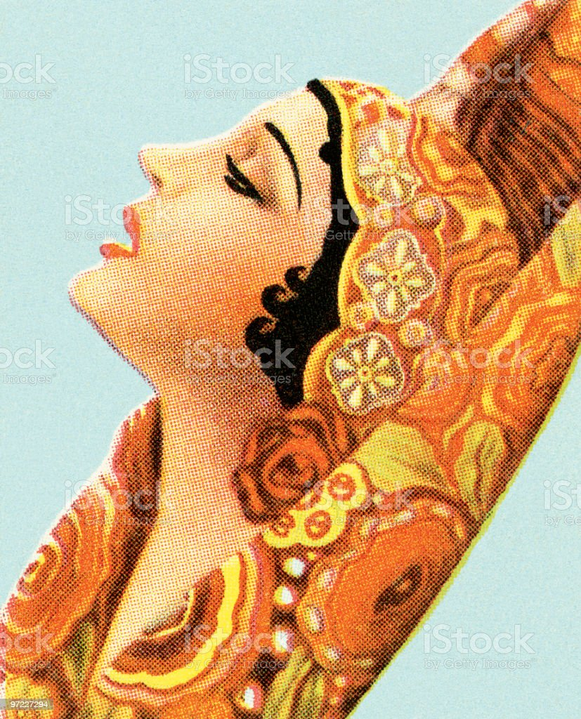 Middle Eastern woman royalty-free stock vector art