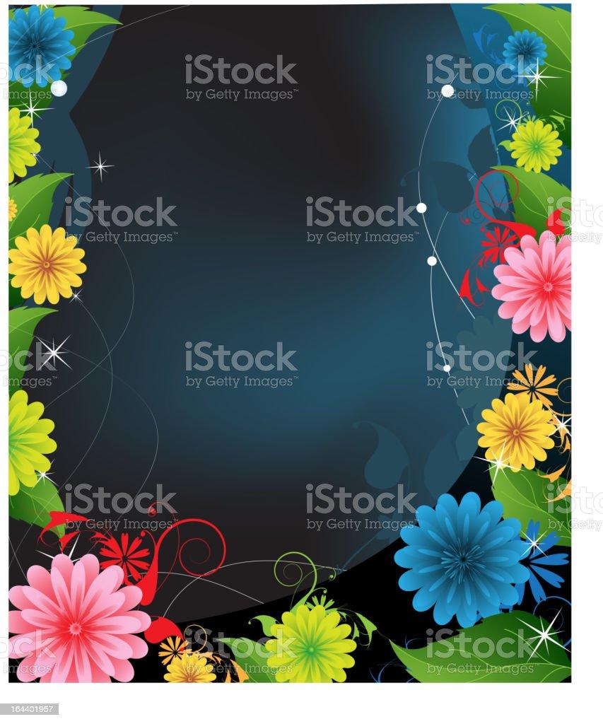 Midnight Flowers royalty-free stock vector art