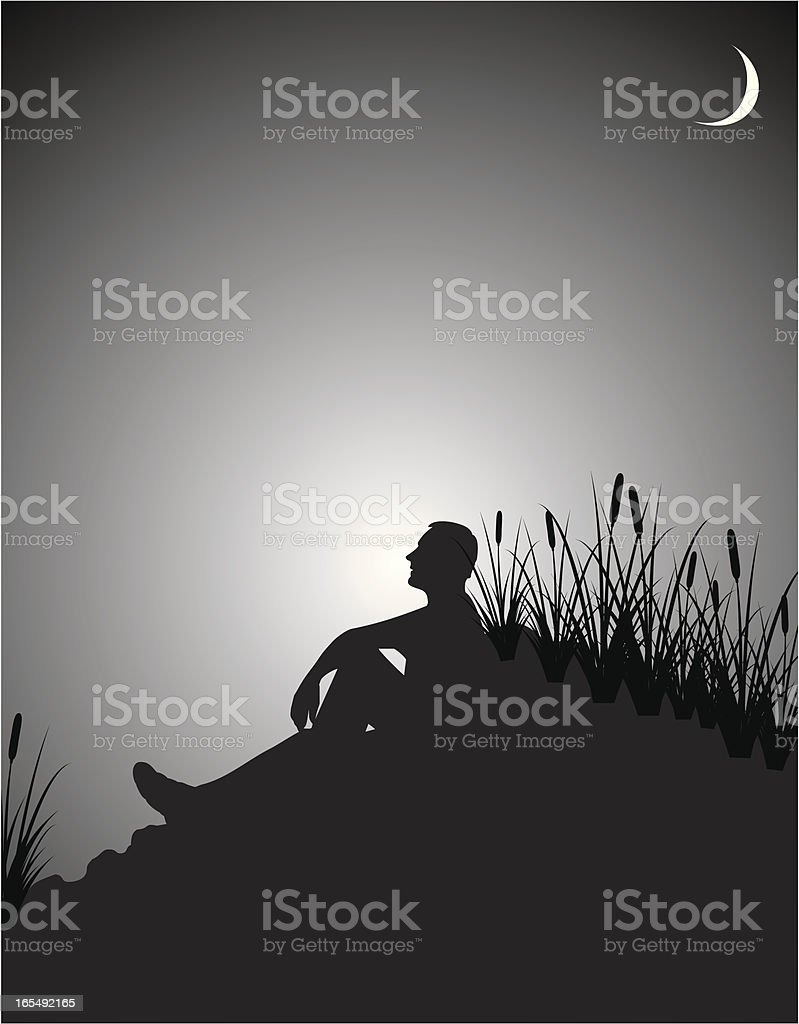 Midnight Meditation royalty-free stock vector art