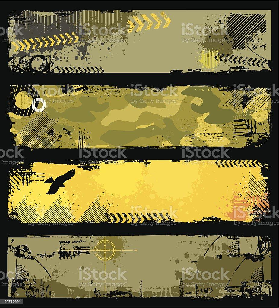 military  banners vector art illustration