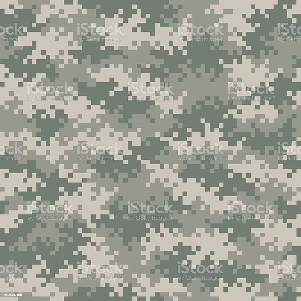Military camouflage pixel pattern seamlessly tileable vector art illustration