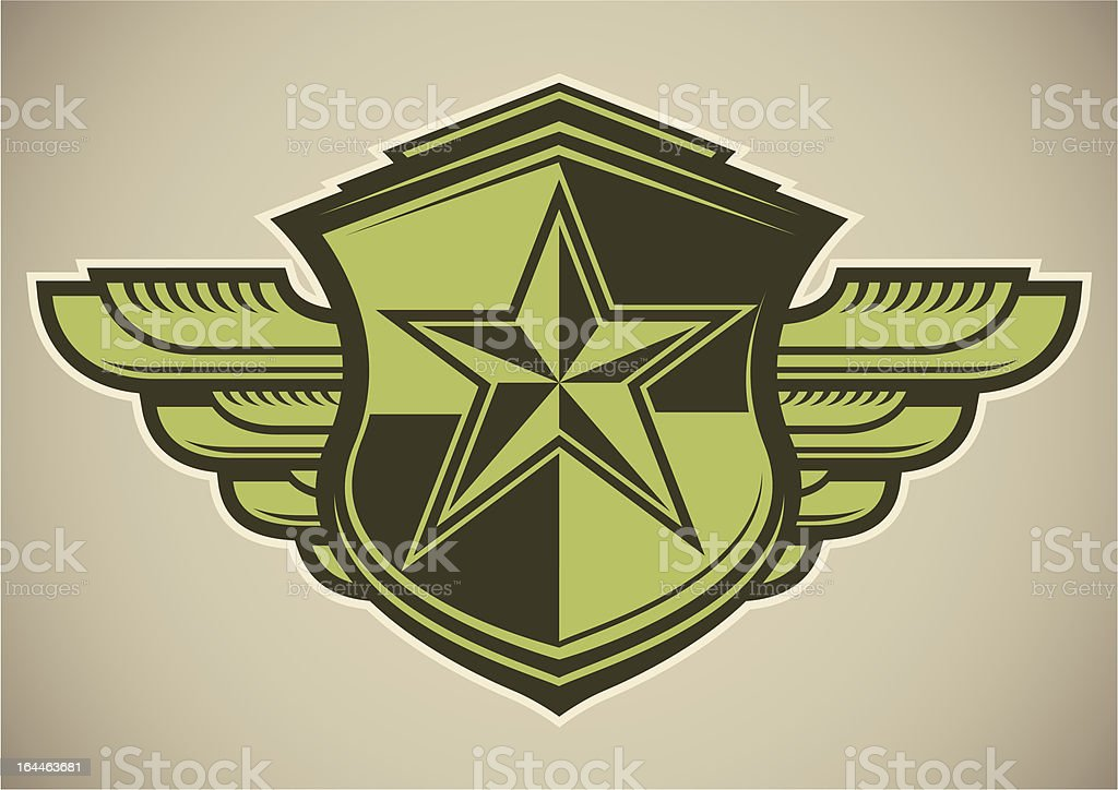 Military crest with star. royalty-free stock vector art
