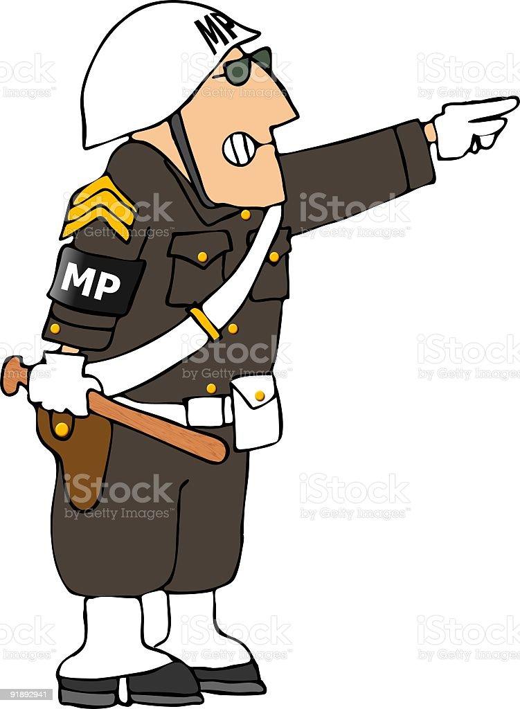 Military Police vector art illustration