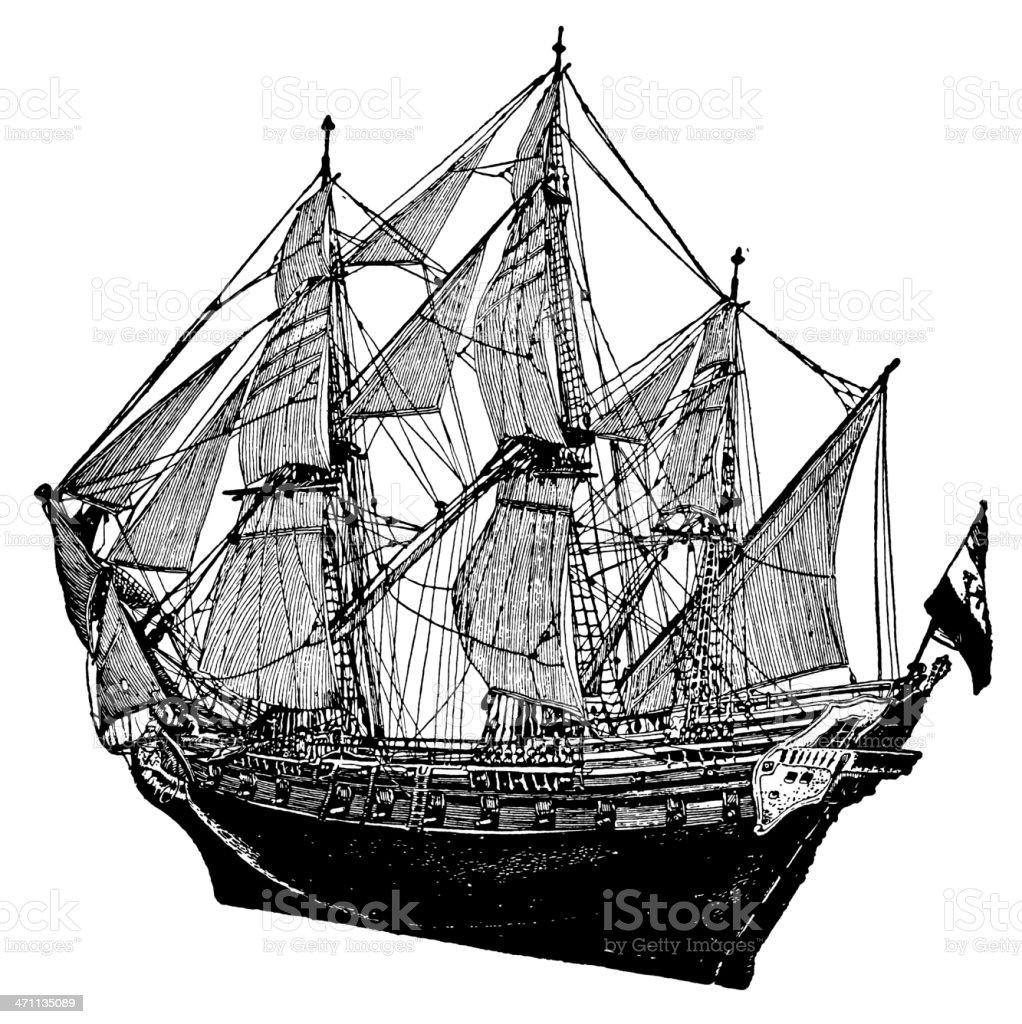Military Ship royalty-free stock vector art