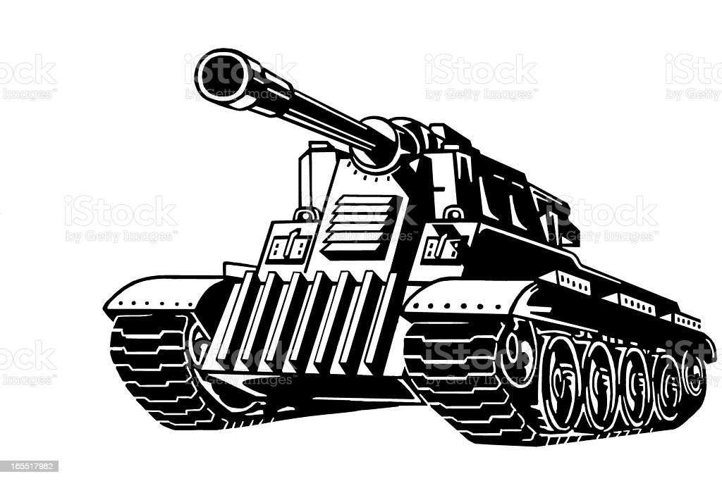 Military Tank royalty-free stock vector art