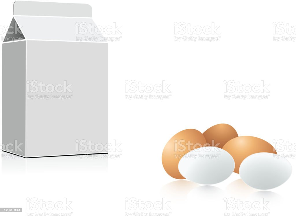 Milk and eggs royalty-free stock vector art