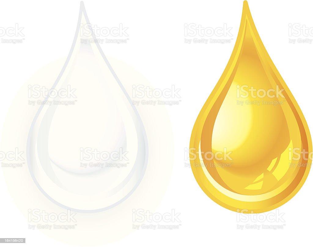 Milk and honey vector art illustration