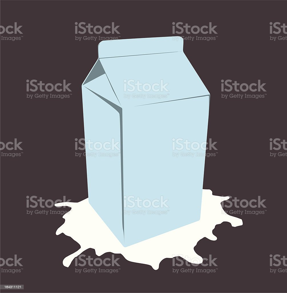 milk box royalty-free stock vector art