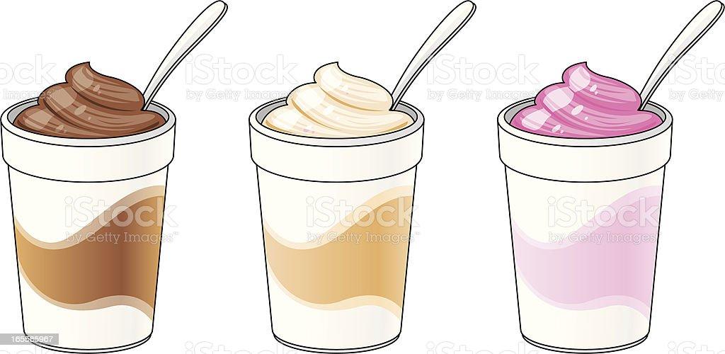 milk shakes vector art illustration