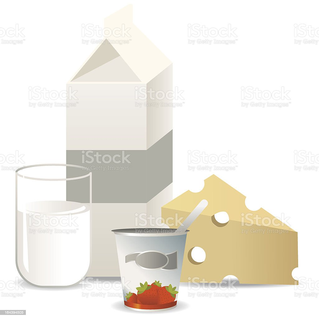 Milkproducts royalty-free stock vector art