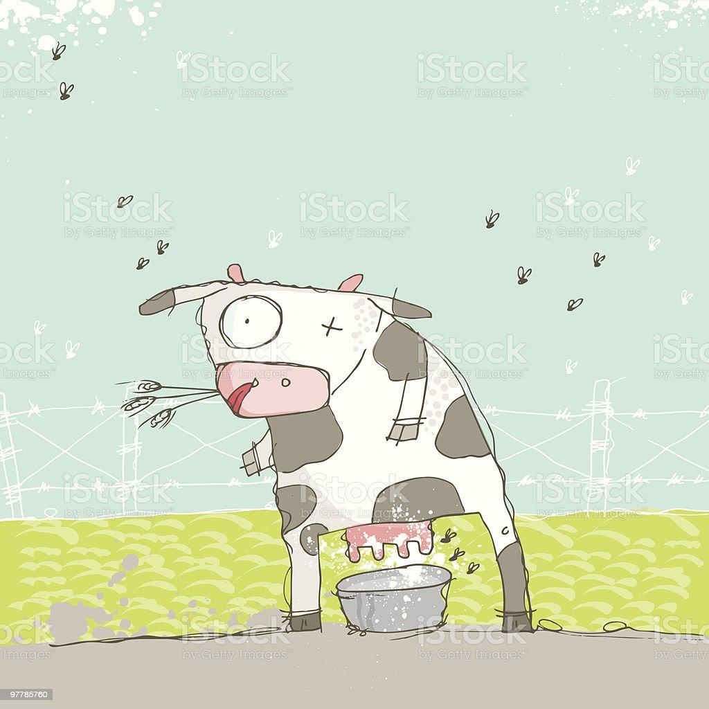 milky cow royalty-free stock vector art