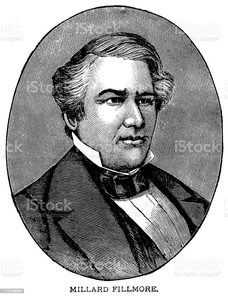 Millard Fillmore royalty-free stock vector art
