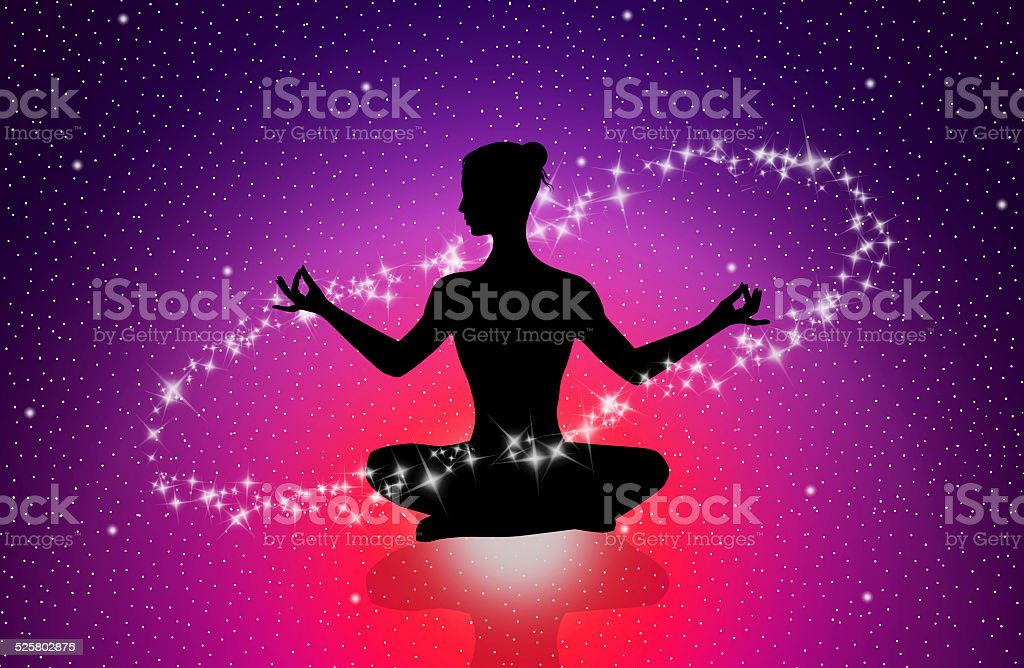 Mind energy vector art illustration