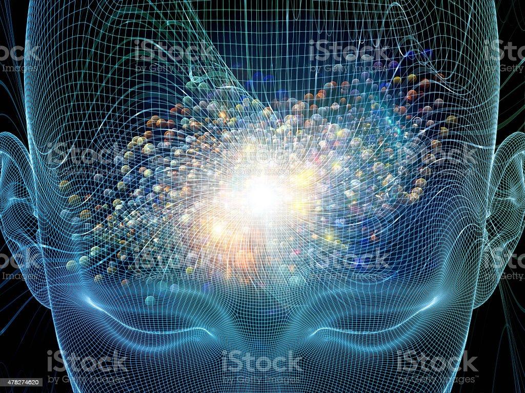 Mind Stream vector art illustration