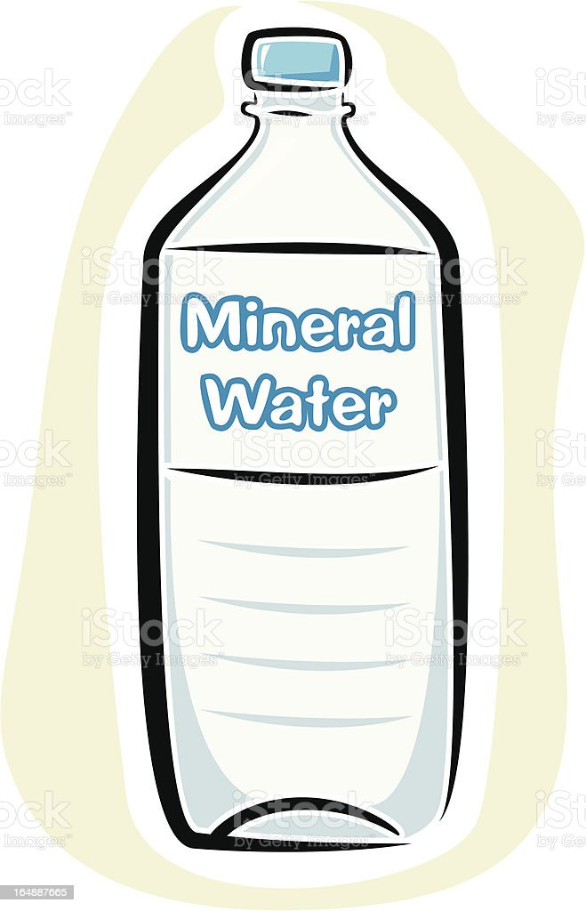 Mineral Water Bottle (Vector) royalty-free stock vector art