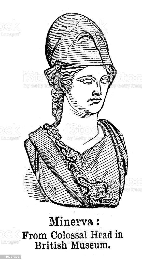 Minerva royalty-free stock vector art
