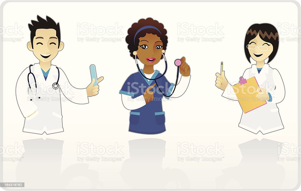 Mini Doctors royalty-free stock vector art