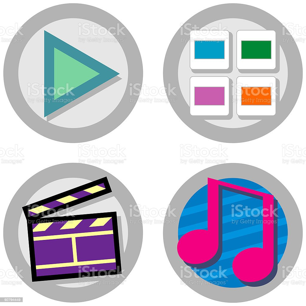 MEDIA: Mini Icon Set 06 - Version 1 royalty-free stock vector art