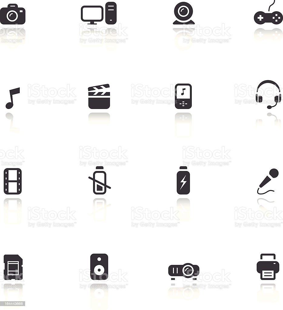 Mini Icons - Media royalty-free stock vector art