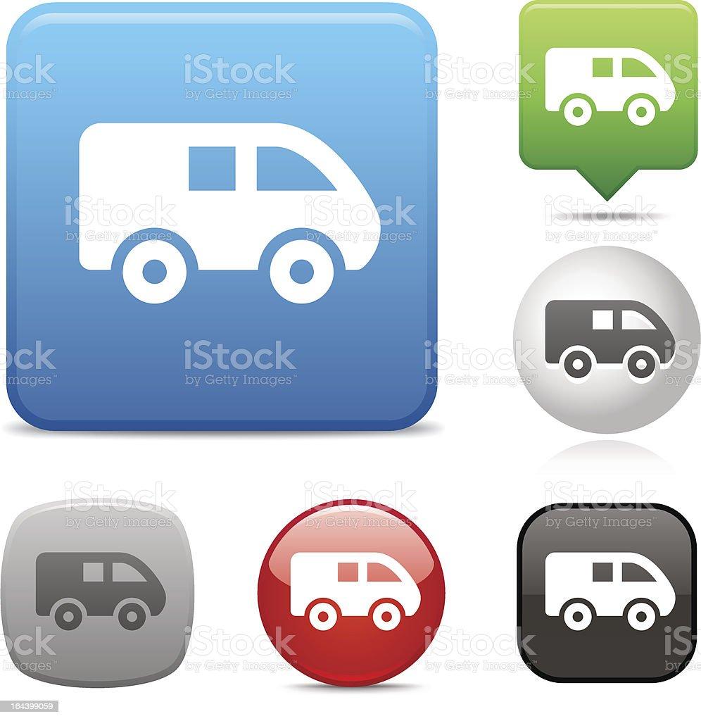 Mini Van icon royalty-free stock vector art