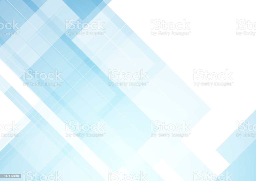 Minimal blue tech abstract background vector art illustration