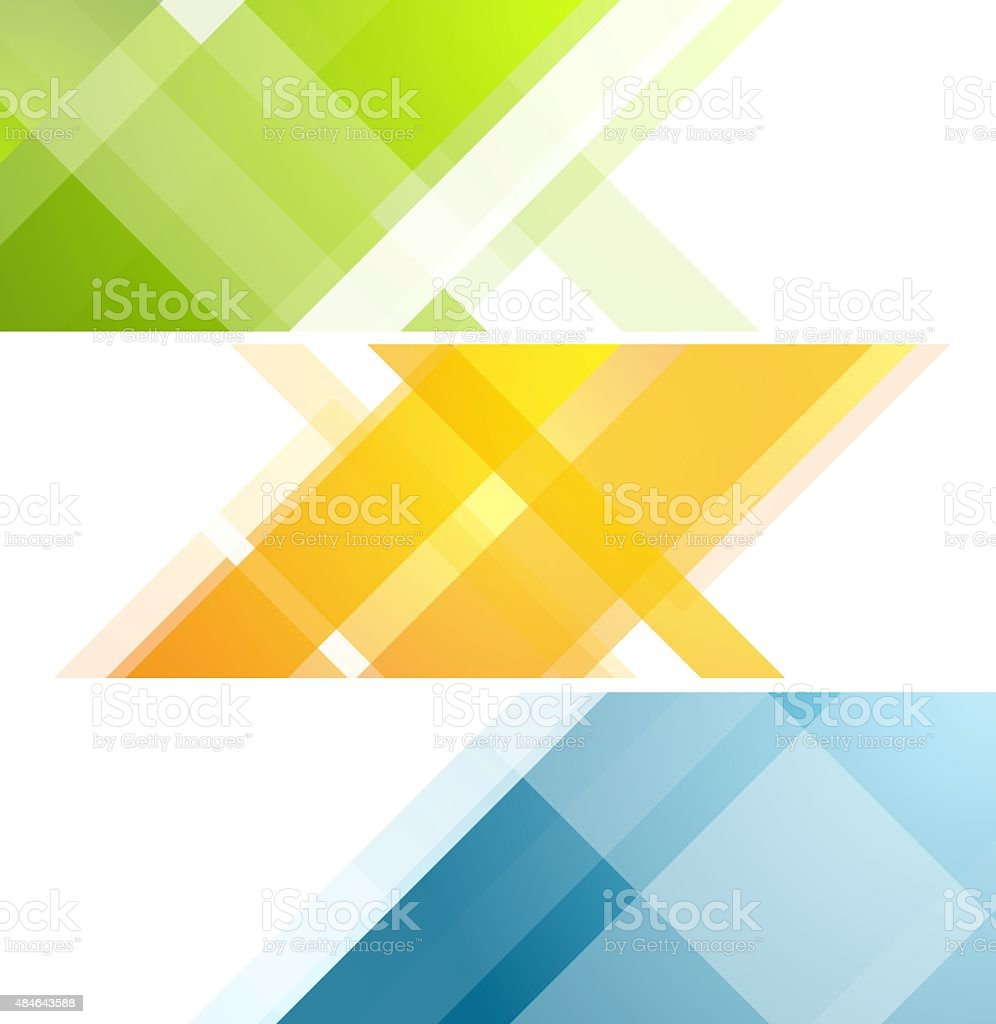 Minimal tech geometric banners vector art illustration