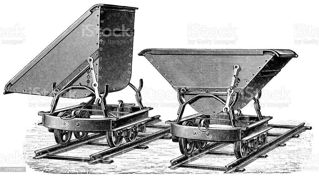 Mining Cart royalty-free stock vector art