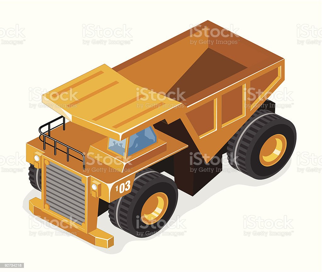 Mining Truck royalty-free stock vector art