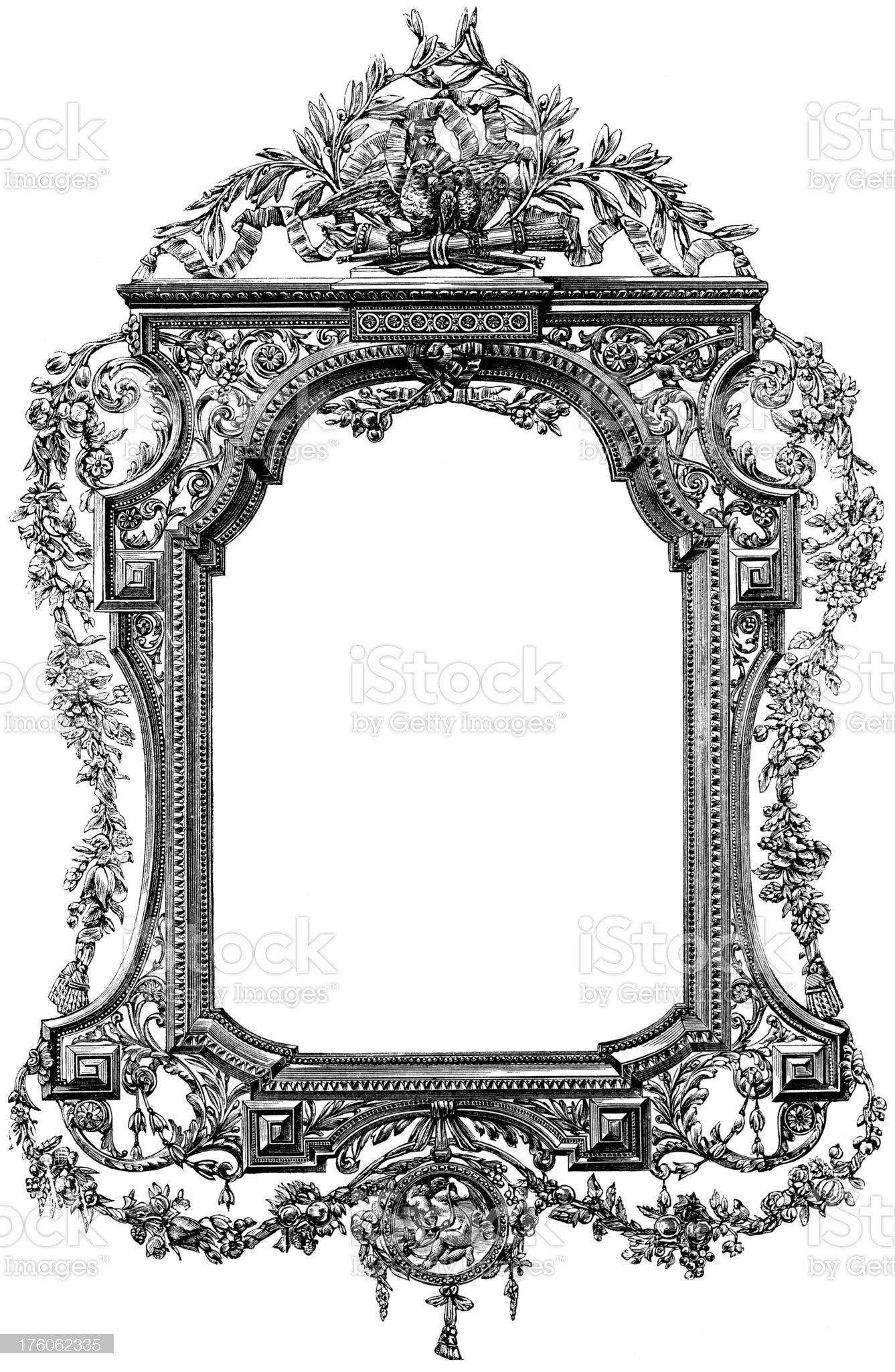 Mirror Frame royalty-free stock vector art