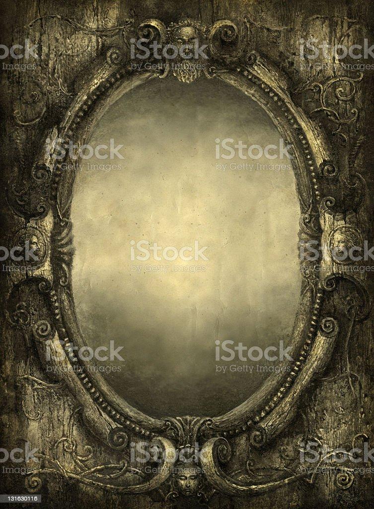 Mirror vector art illustration