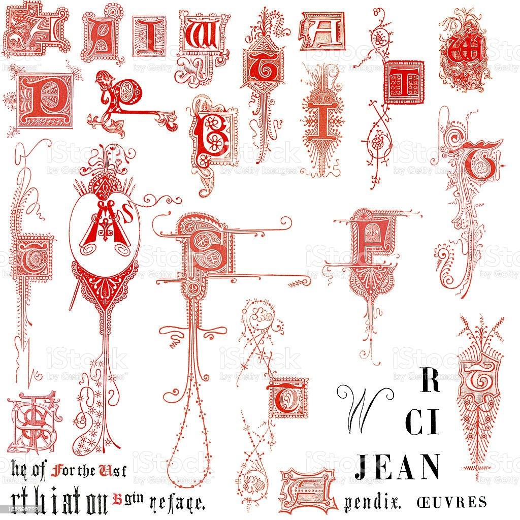 Miscellaneous Letters vector art illustration