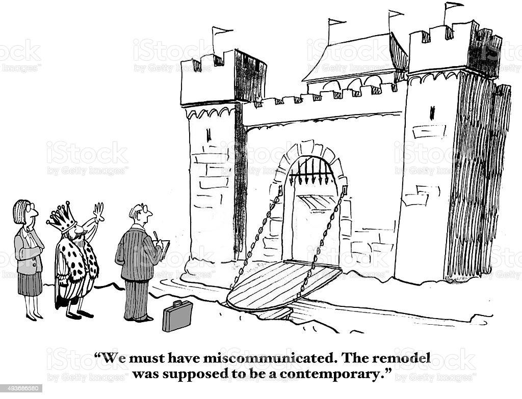 Miscommunication vector art illustration