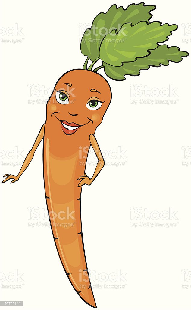 Miss Carrot royalty-free stock vector art