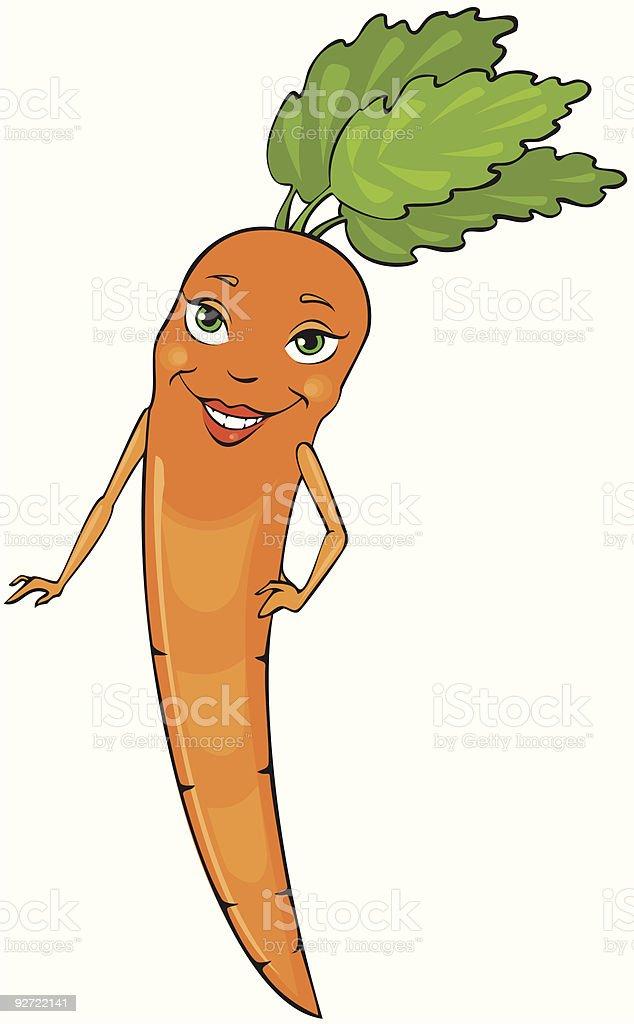 Miss Carrot vector art illustration