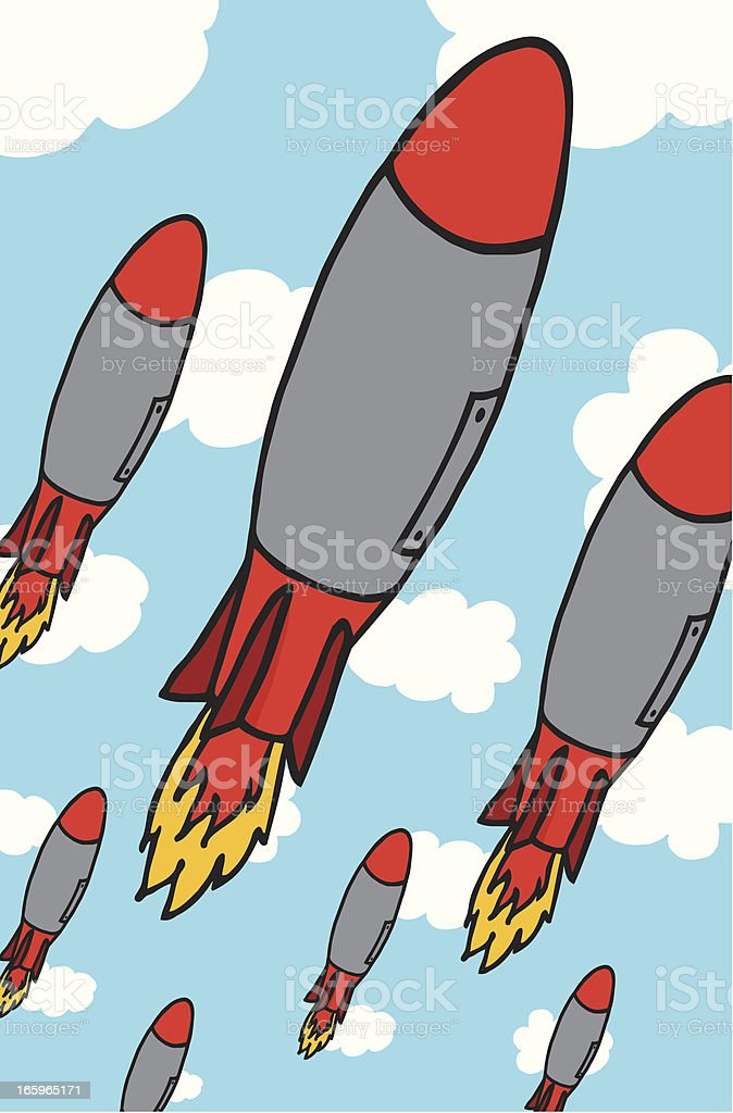 Missile attack royalty-free stock vector art