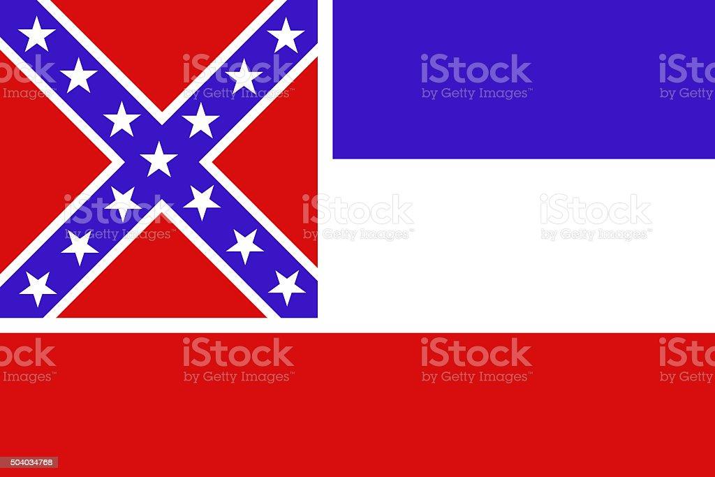 Mississippi State Flag vector art illustration