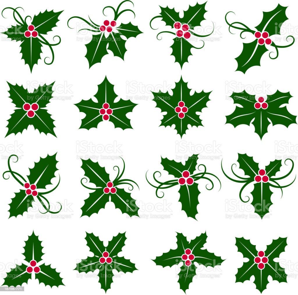Mistletoe Set. royalty-free stock vector art