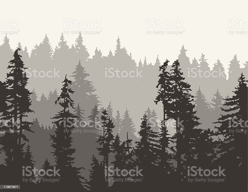 Misty Mountain Background royalty-free stock vector art