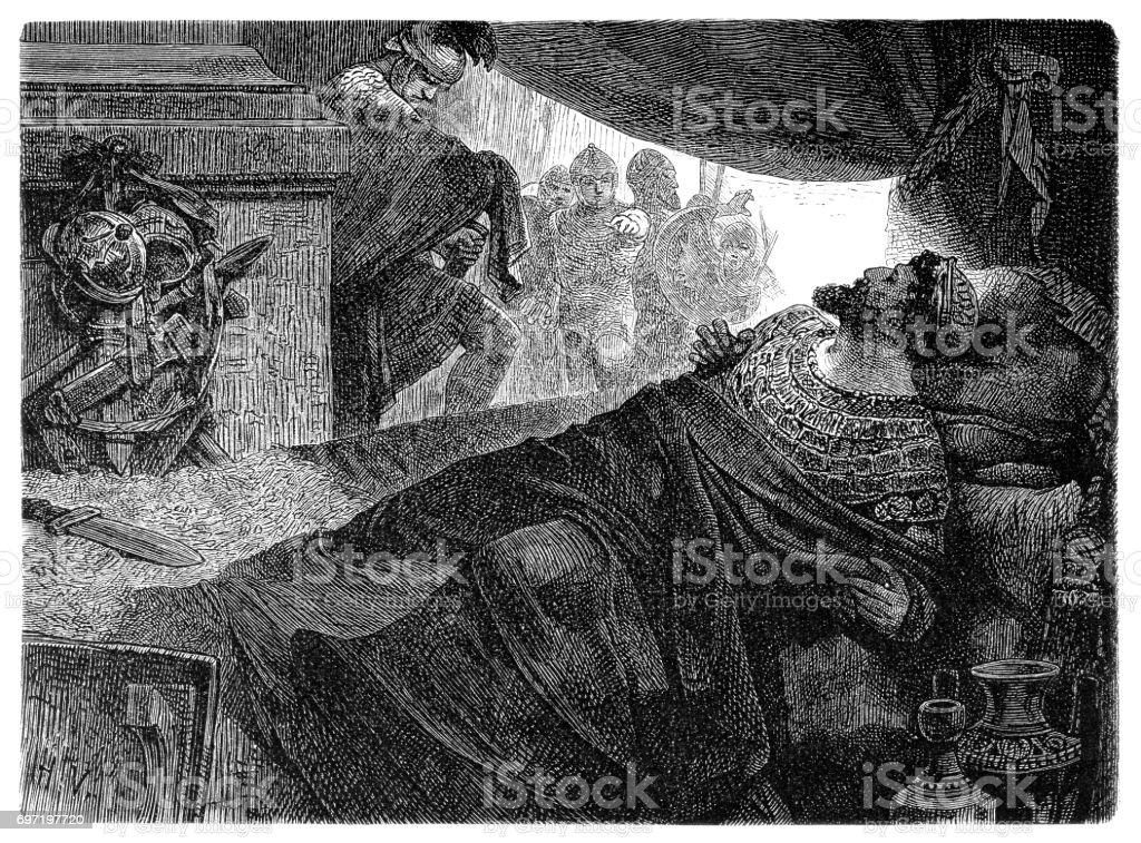 Mithridates vector art illustration