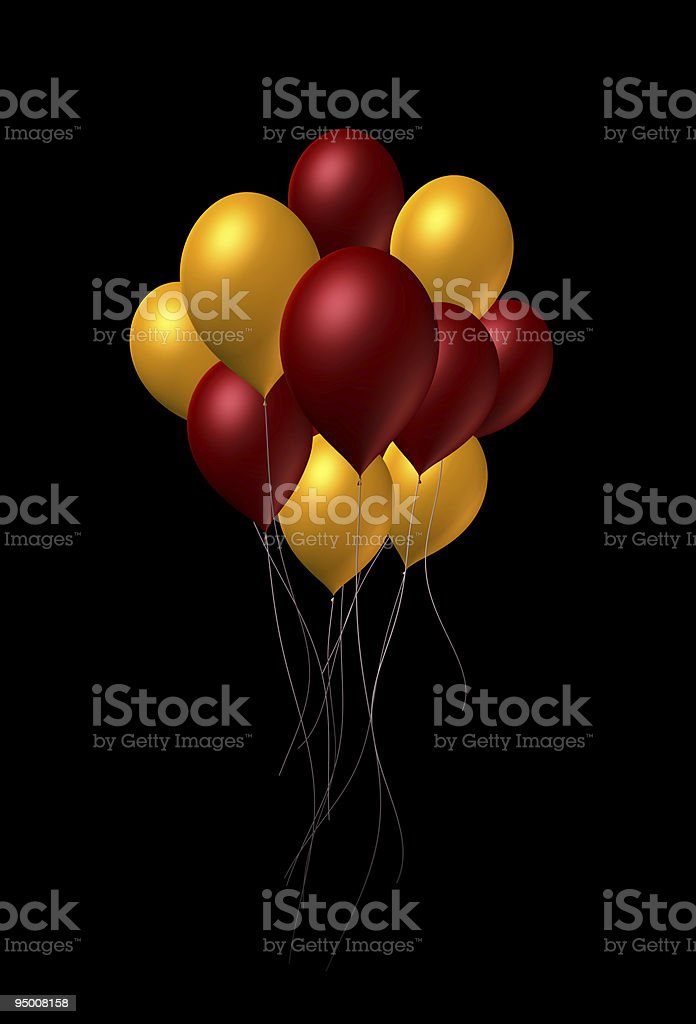 Mixed Color Balloons royalty-free stock vector art