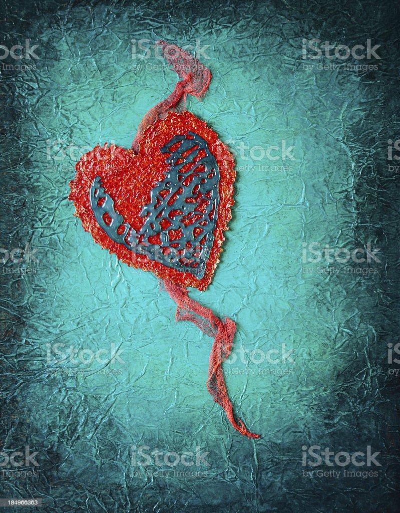 Mixed Media Art with Heart royalty-free stock vector art
